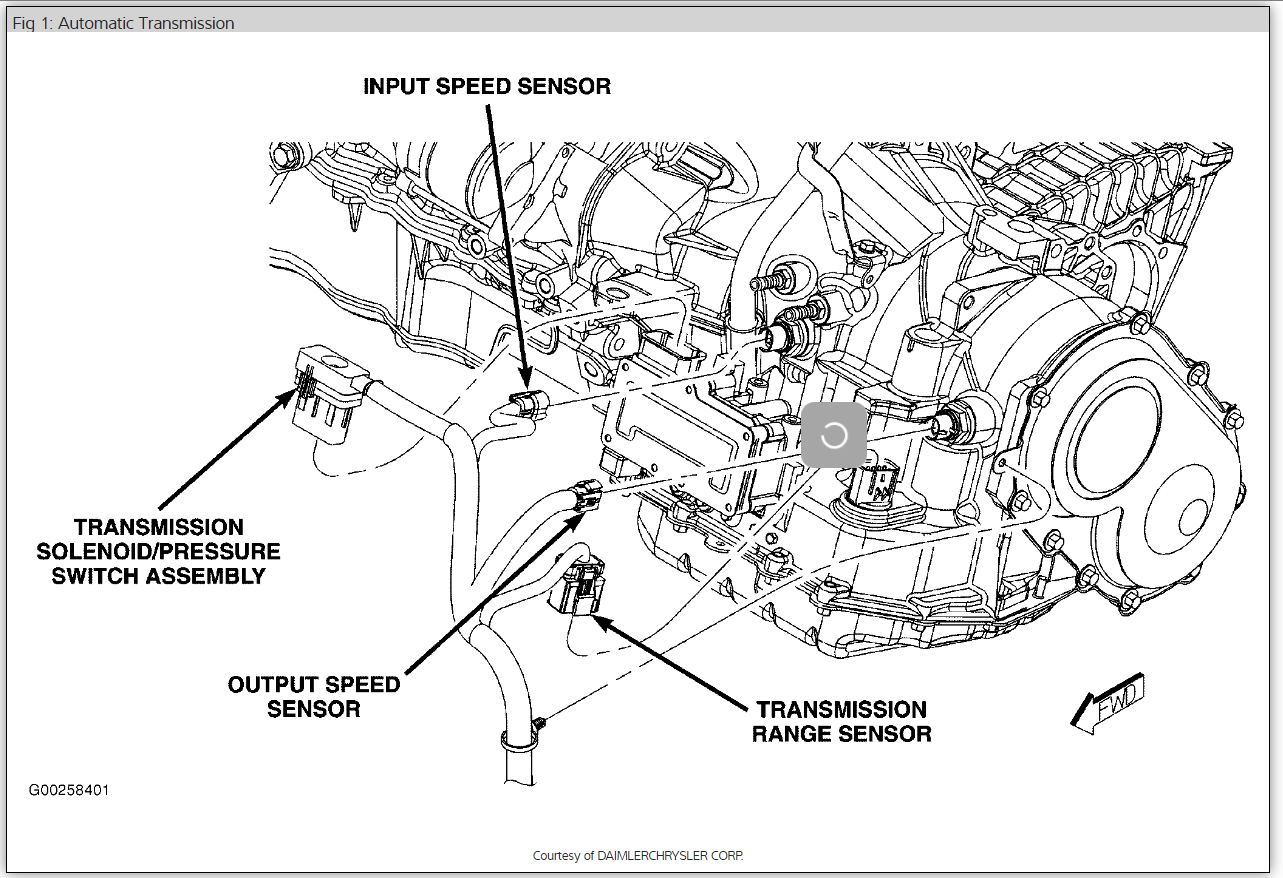 2002 chrysler town and country transmission wiring