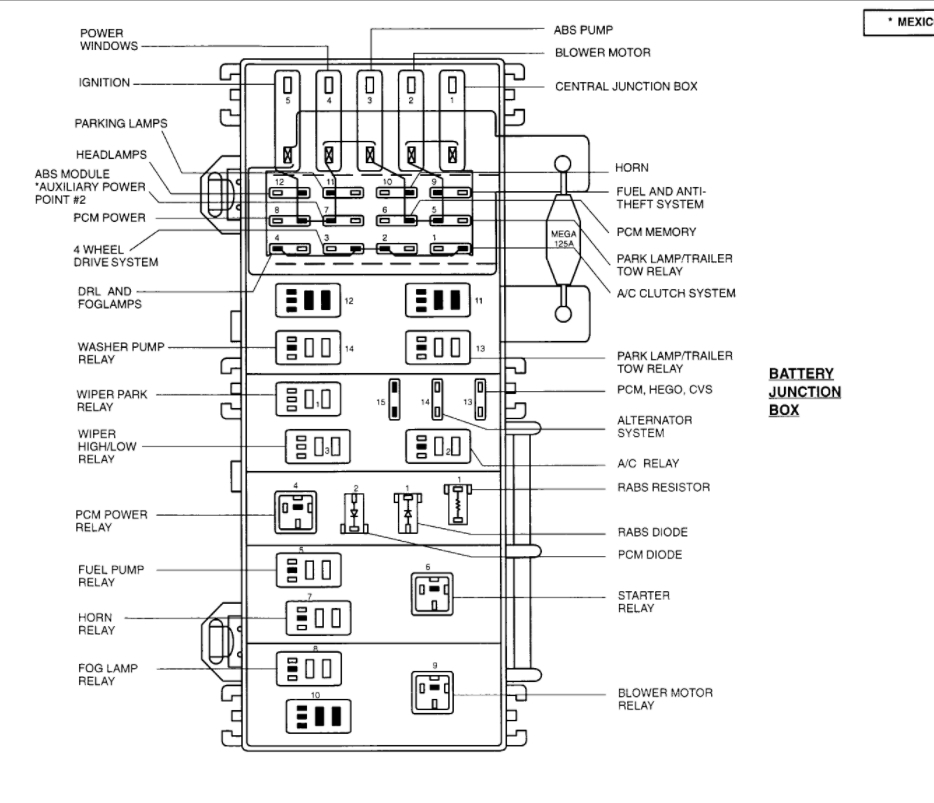 2004 ford ranger fuel pump wiring diagram