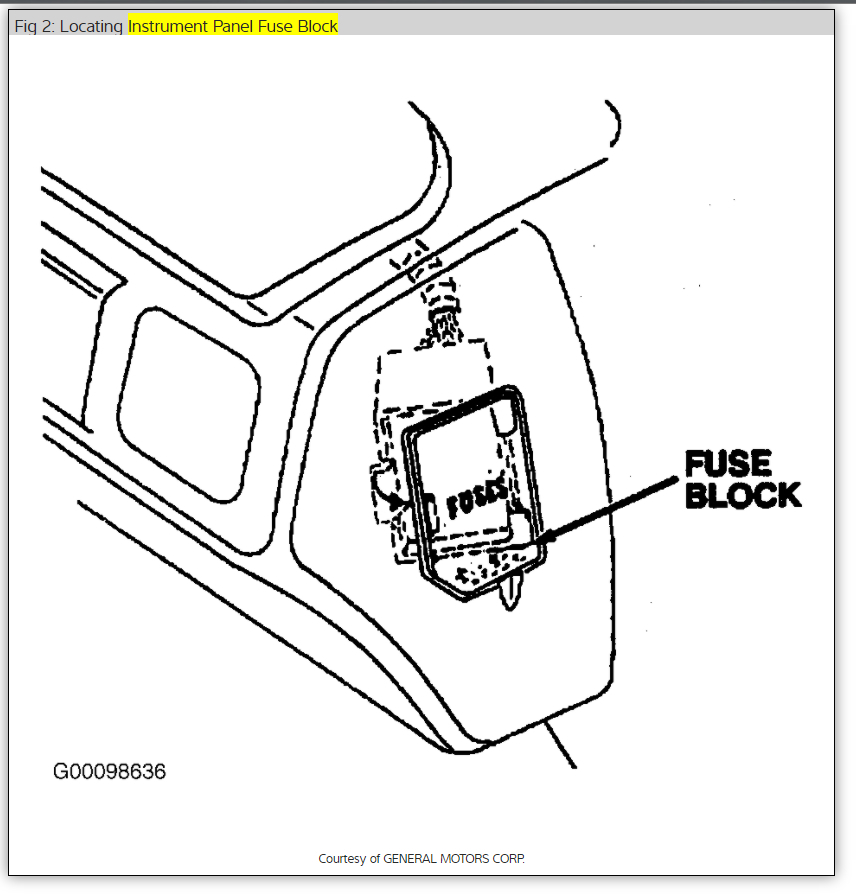 1995 chevy corsica fuel filter location