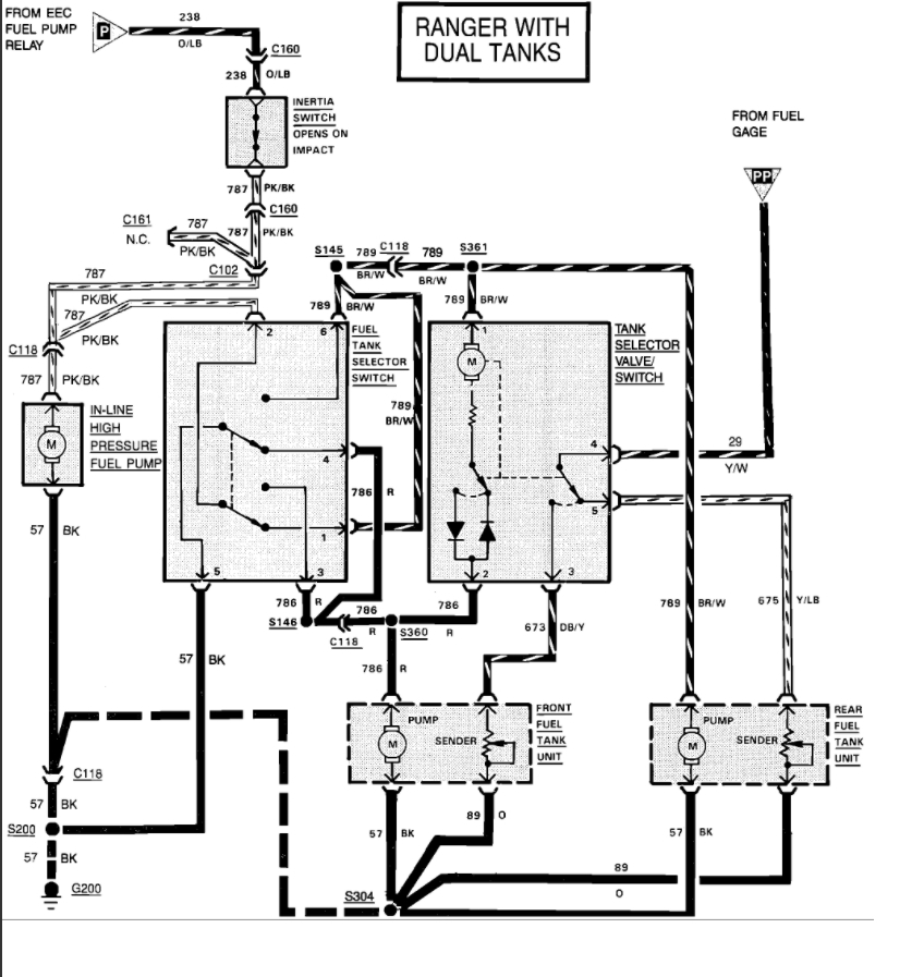 1988 ford ranger wiring harness diagram