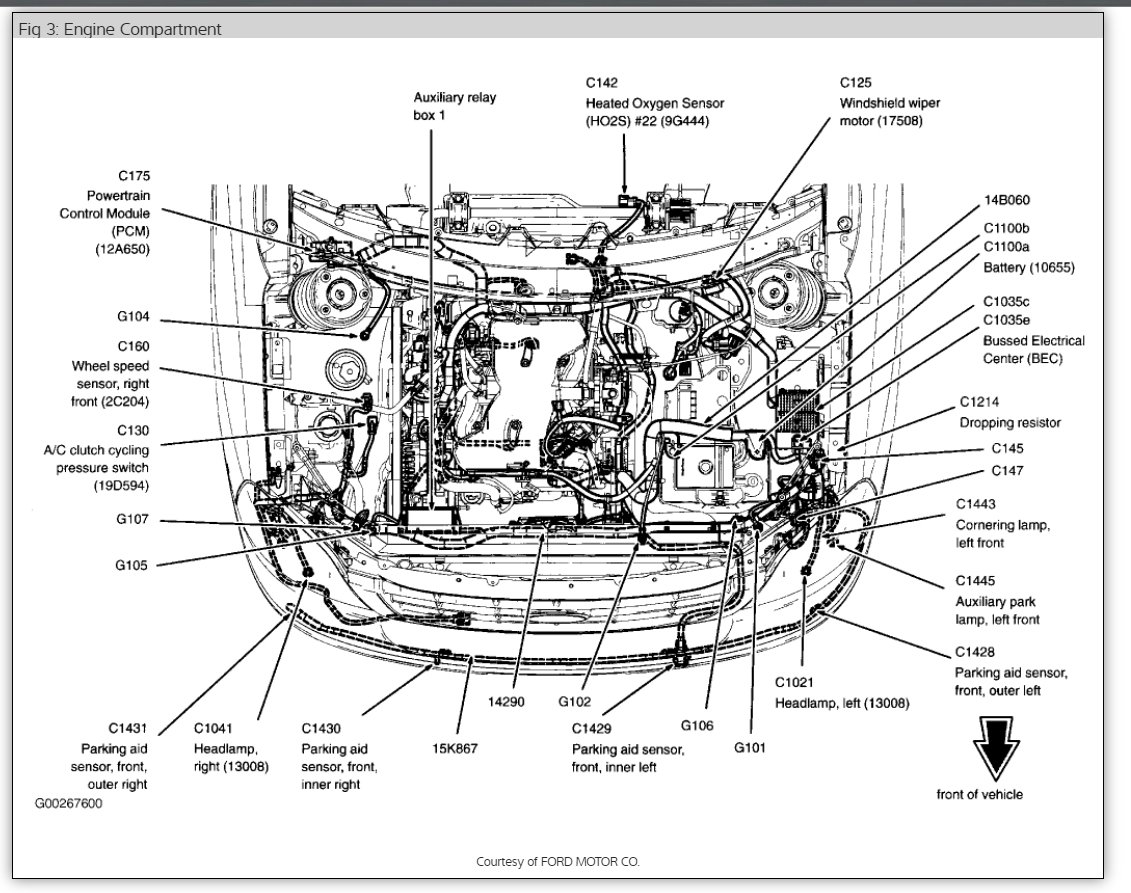 2004 ford star 3.9 engine diagram