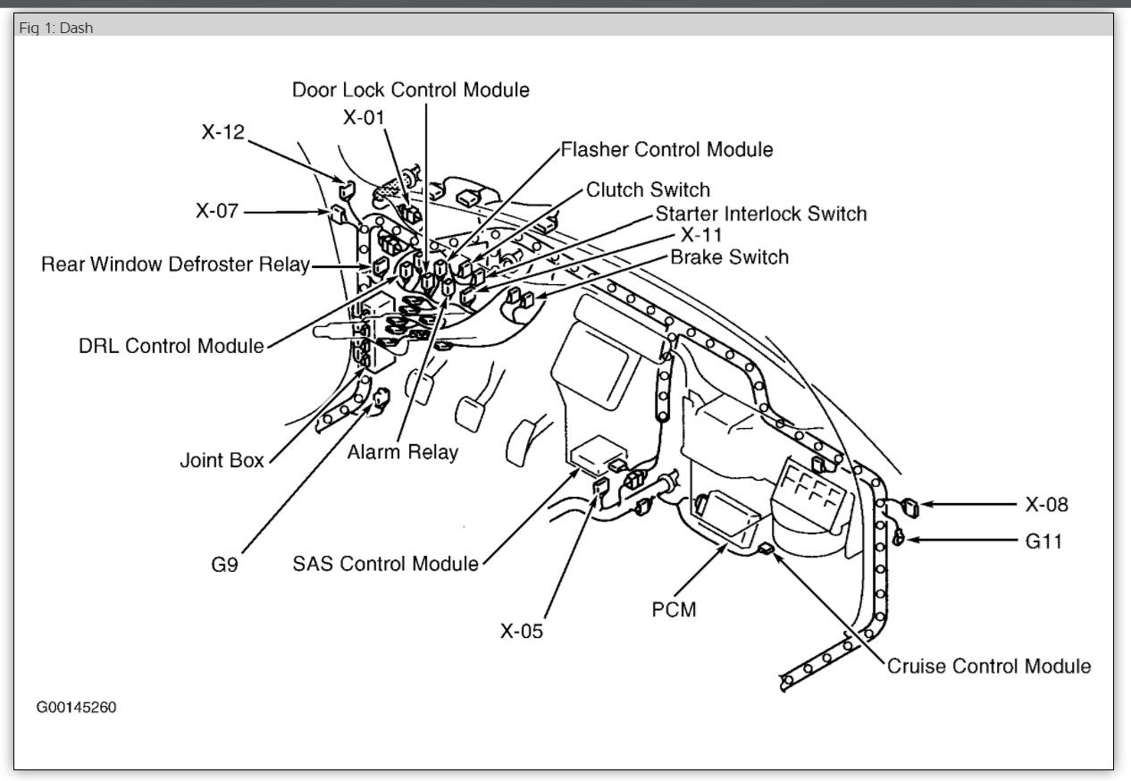 1989 ford tempo fuse box location