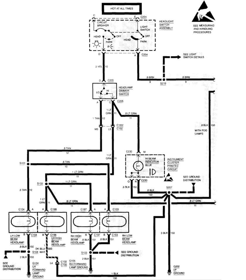 chevrolet silverado headlight switch problem