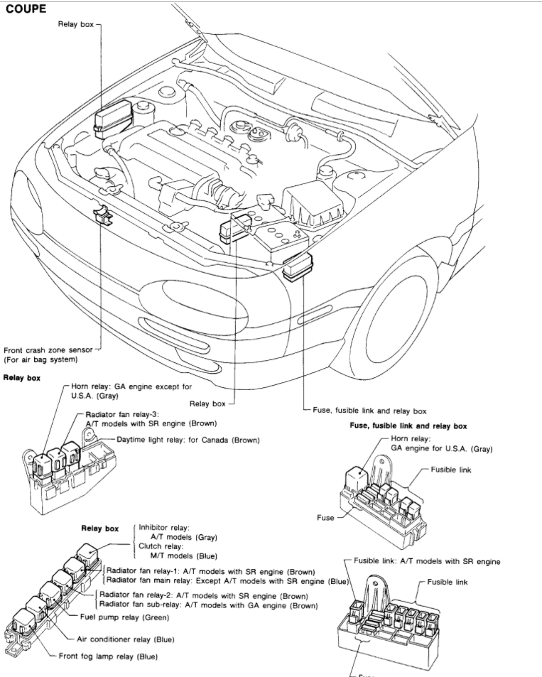 1993 nissan stanza altima wiring diagram original