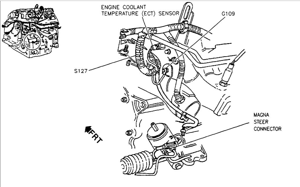 Engine Coolant Temperature Sensor V8 Front Wheel Drive Automatic