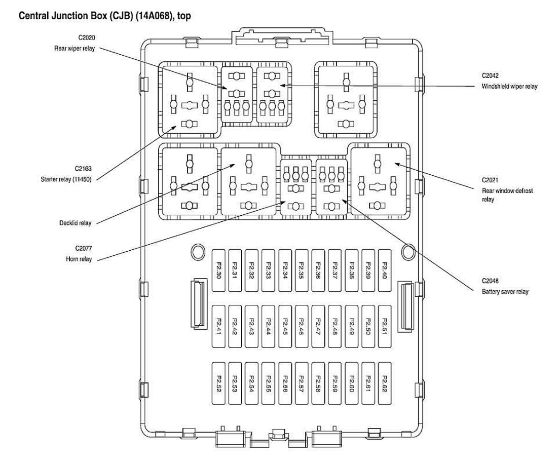 2002 ford focus zts fuse diagram