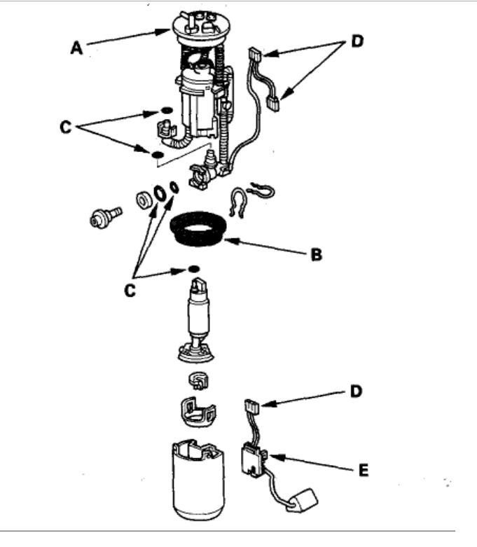 honda crv fuel filter
