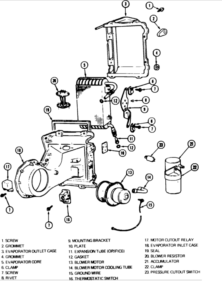 85 chevy pickup blower motor ledningsdiagram