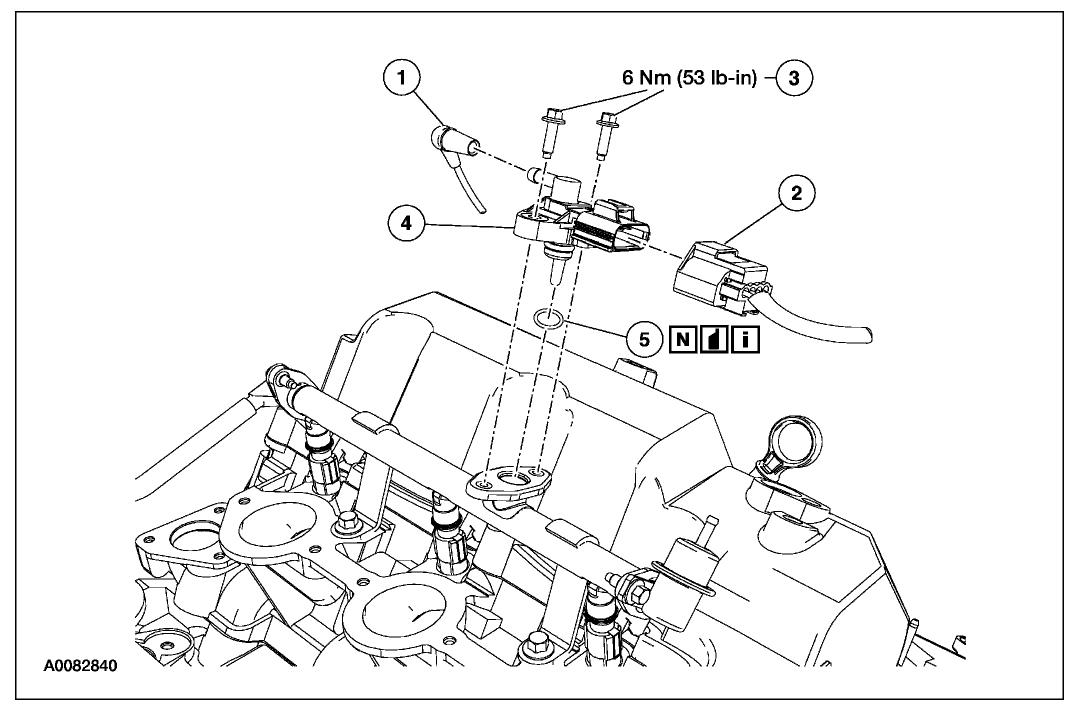 Fuel Rail Pressure Sensor Six Cylinder Four Wheel Drive Automatic