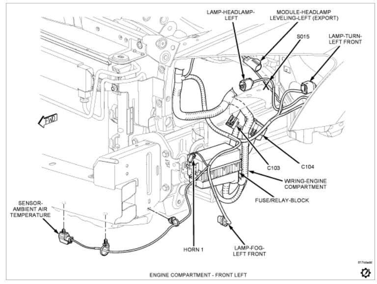 2007 dodge caliber horn wiring diagram