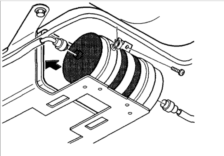 1995 volvo 960 fuel filter location