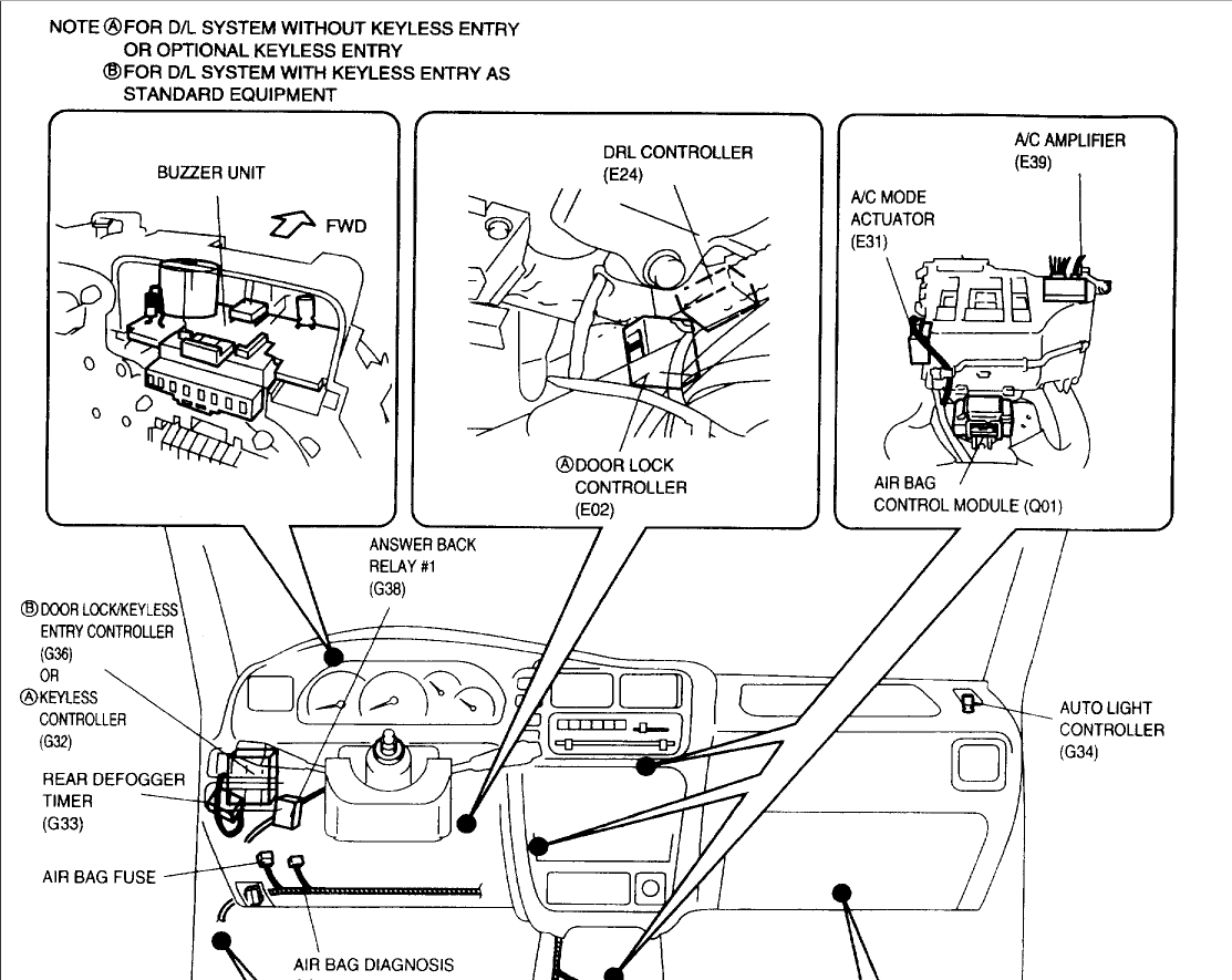 suzuki vitara fuse box location 1998