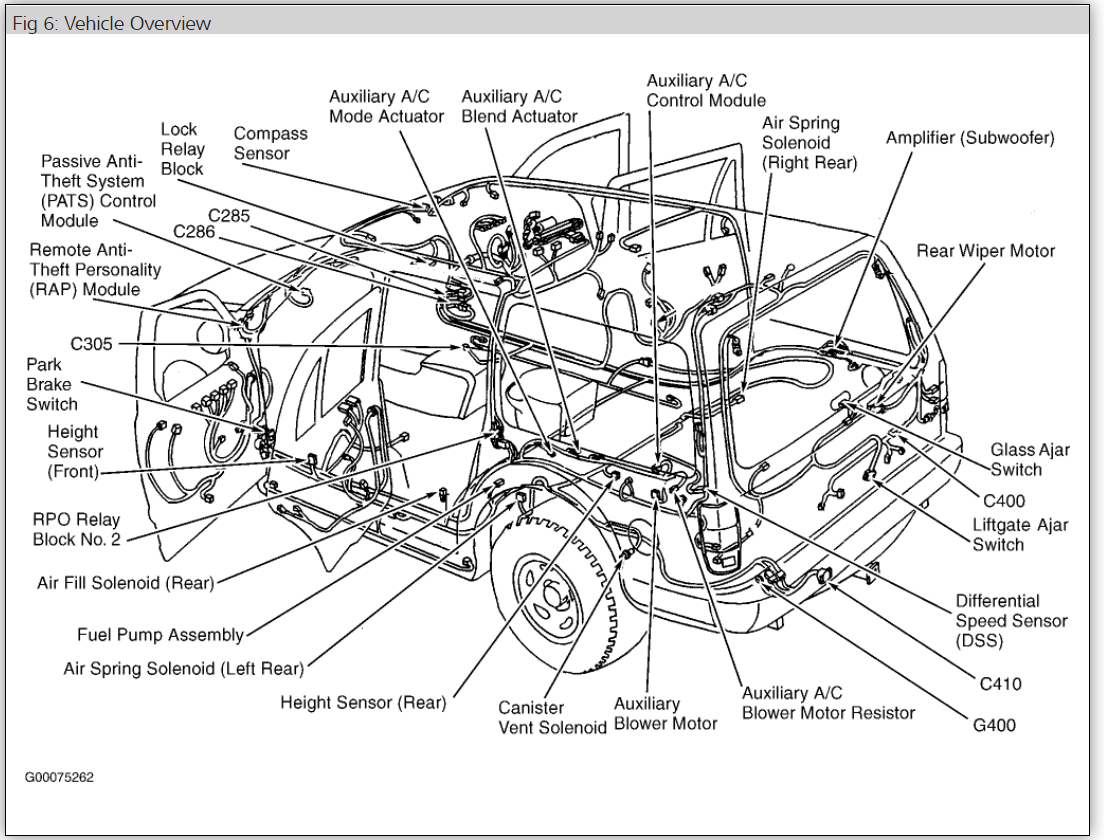 2003 lincoln navigator suspension diagram