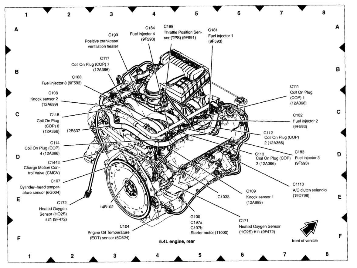 ford 5 4 liter engine coolant diagram
