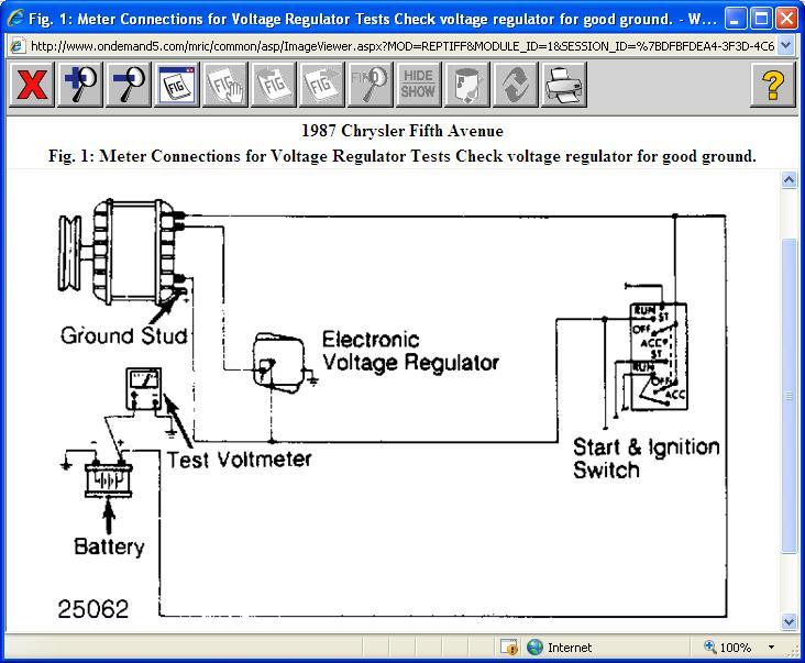 Alternator/Voltage Regulator Alternator on 1987 Chrysler 5th Ave