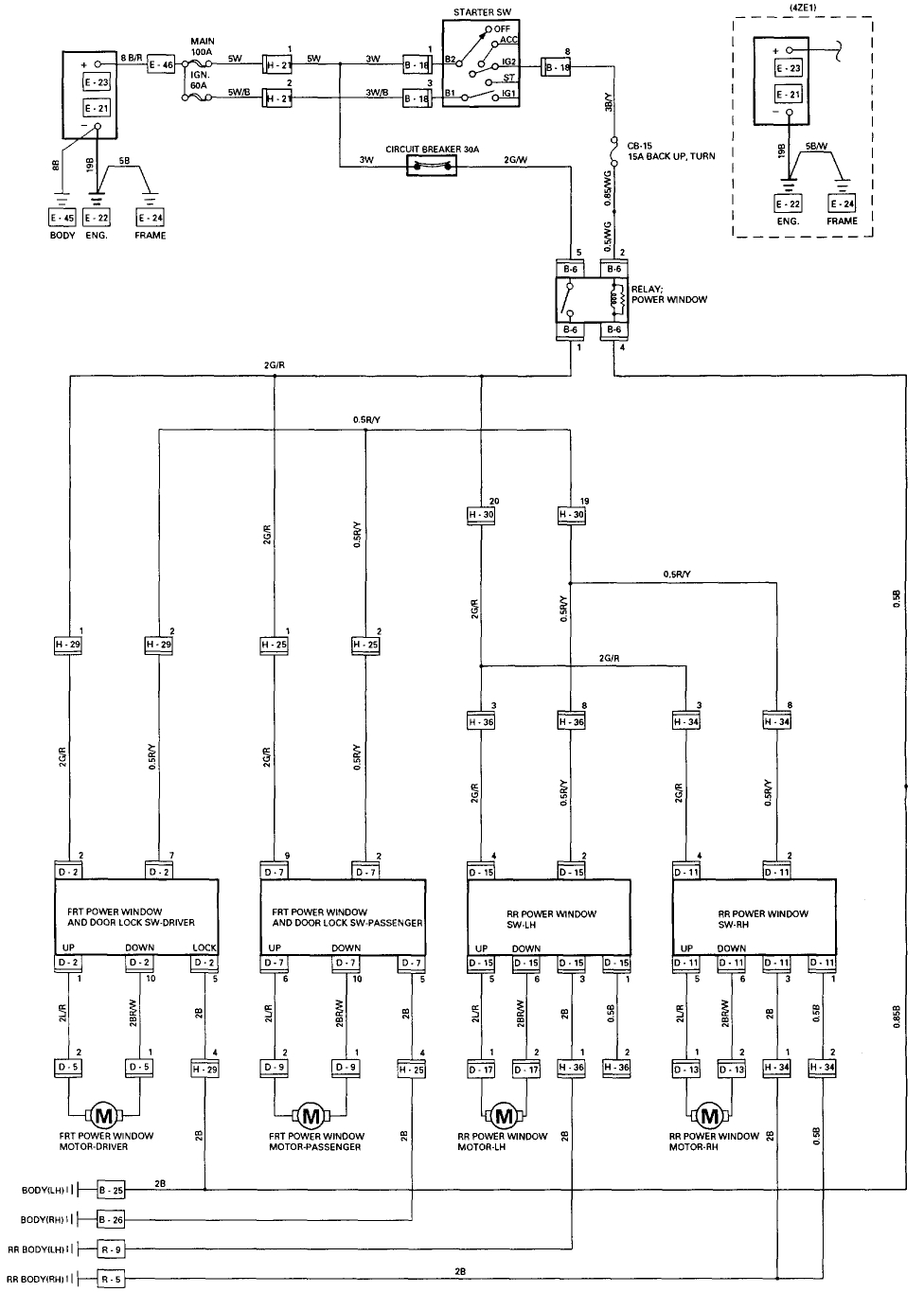 2001 Olds Alero Power Window Switch Wiring Diagram  F3e7bc