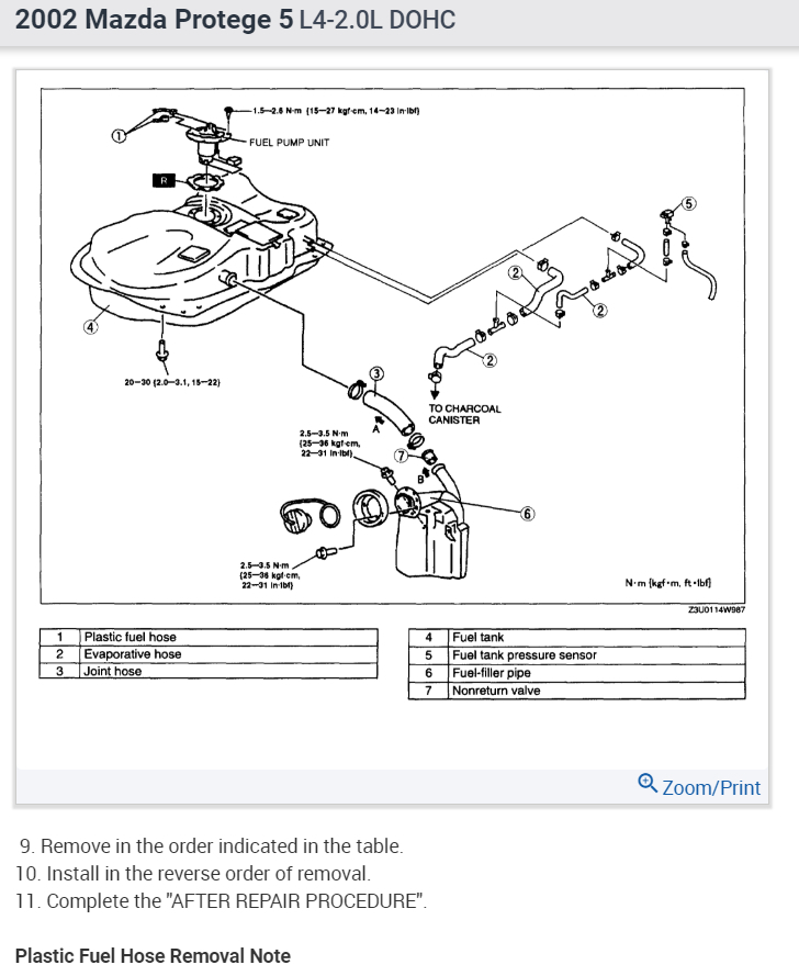 2006 Mazda 6 Fuel Filter Location Wiring Diagrams