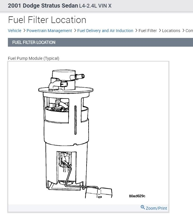 Stratus Fuel Filter Wiring Diagram