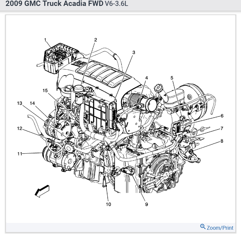 Acadia Engine Diagram Electronic Schematics collections