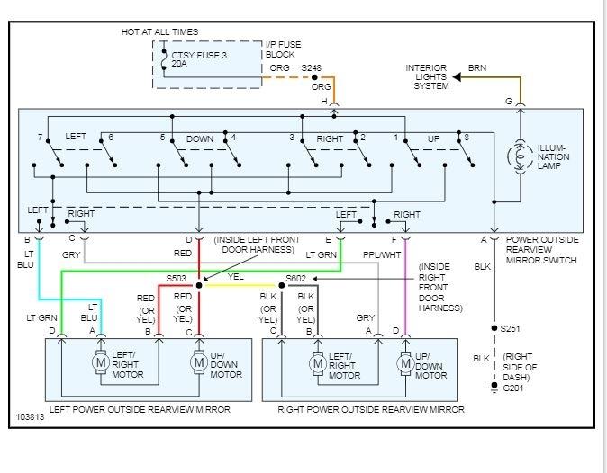 1999 GMC Sierra Power Window Switch Wiring Diagram