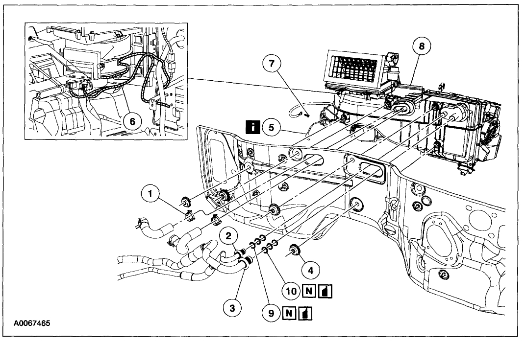 1997 ford expedition heater core diagram