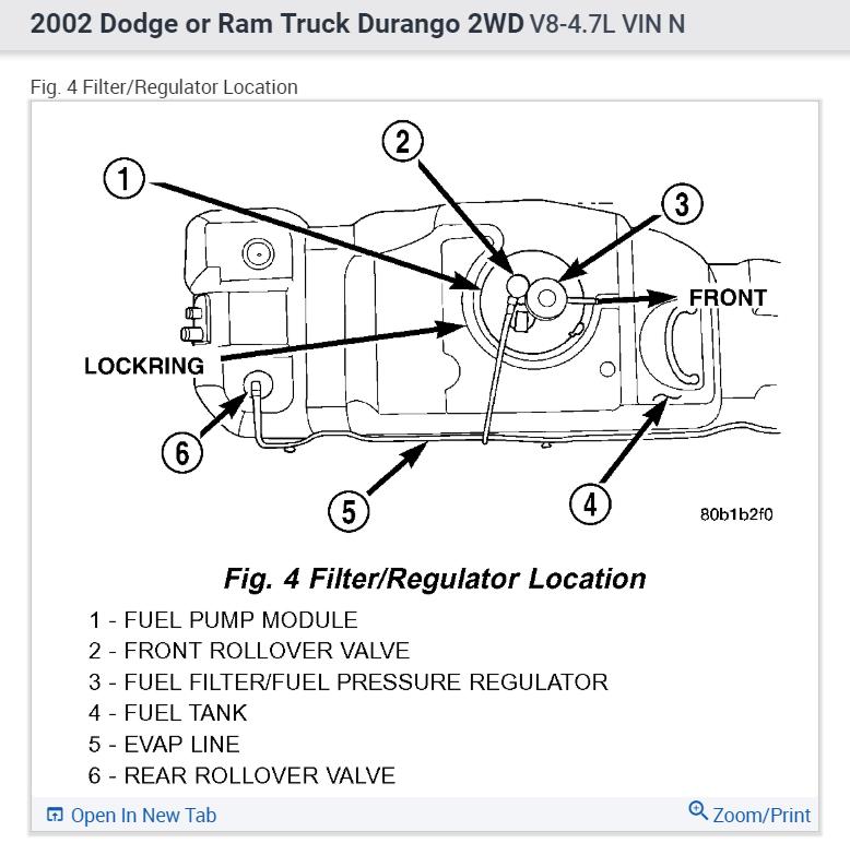 2002 Dodge Durango Fuel Filter circuit diagram template