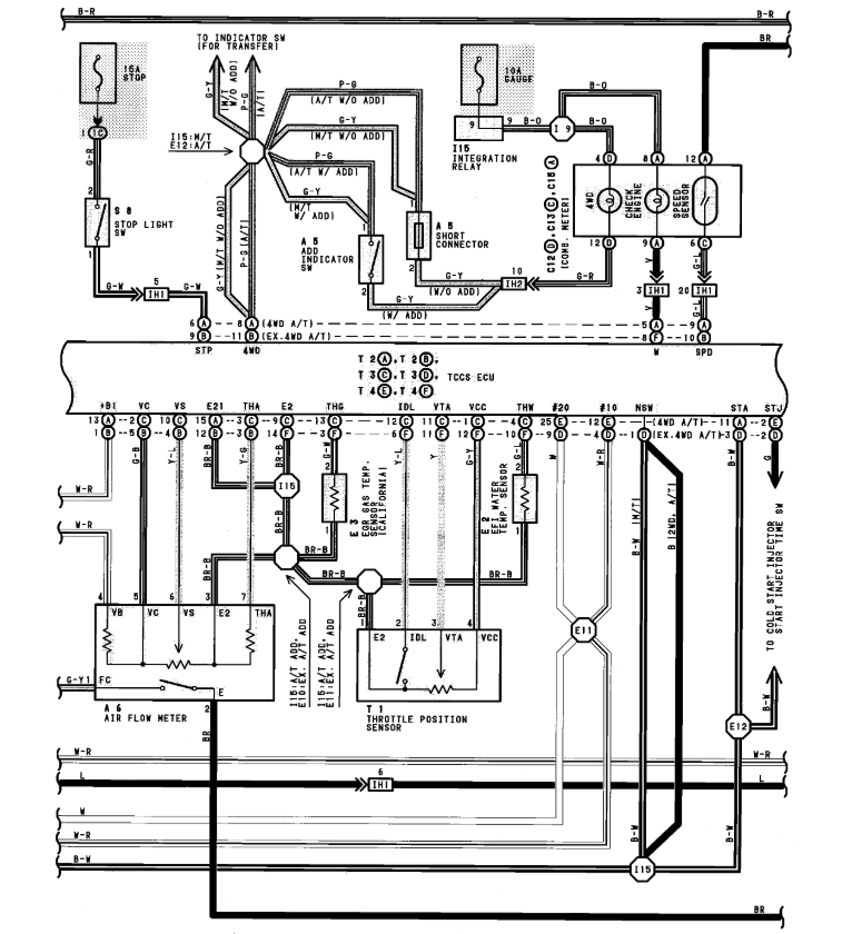 ECU Pin Outs for 3sFE Engine with 26 16 and 22 Pins