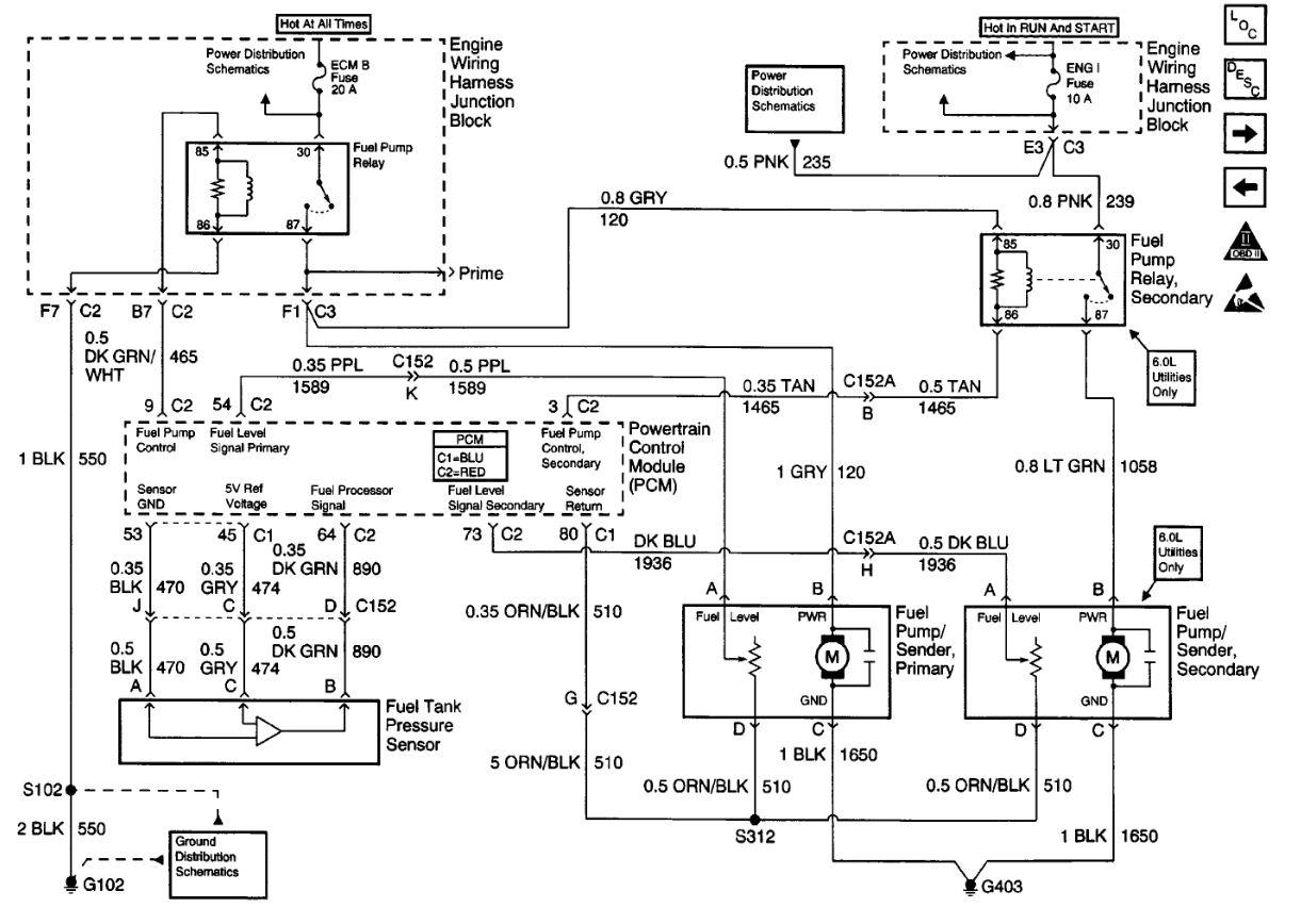 2000 chevrolet silverado complete fuel pump diagram i can39t find
