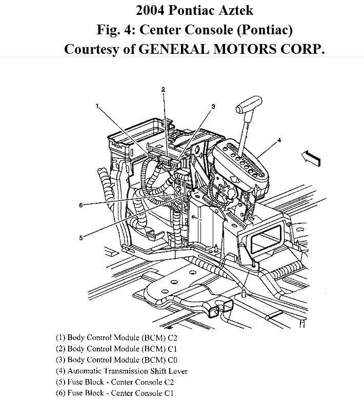 2005 pontiac sunfire fuse box interior