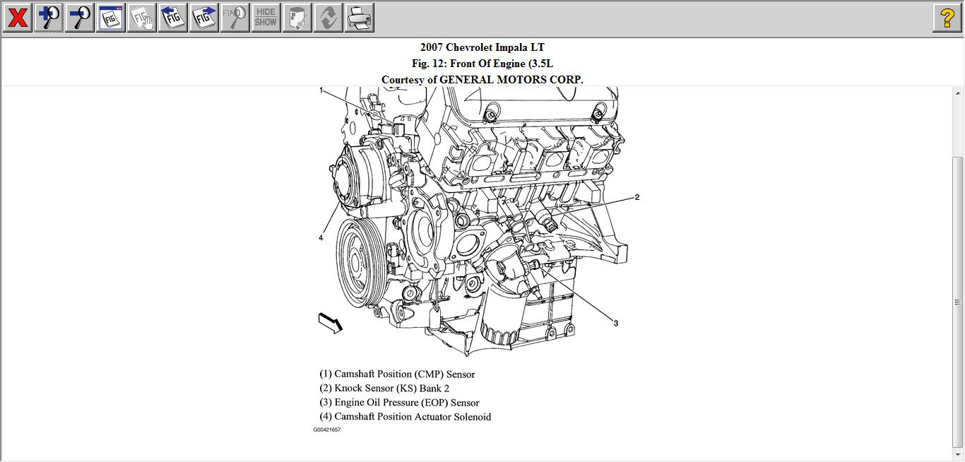 diagram of engine oil sending unit location chevrolet