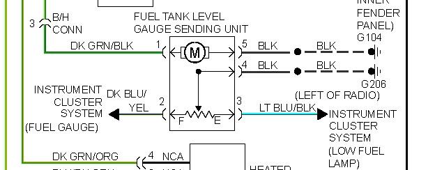 Electrical Fuel Gage Stuck on 3/4 Tank on 1995 Dodge Dakota(