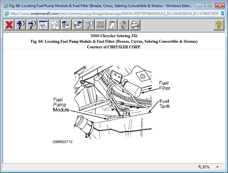 Need Location of Fuel Filter Six Cylinder Two Wheel Drive