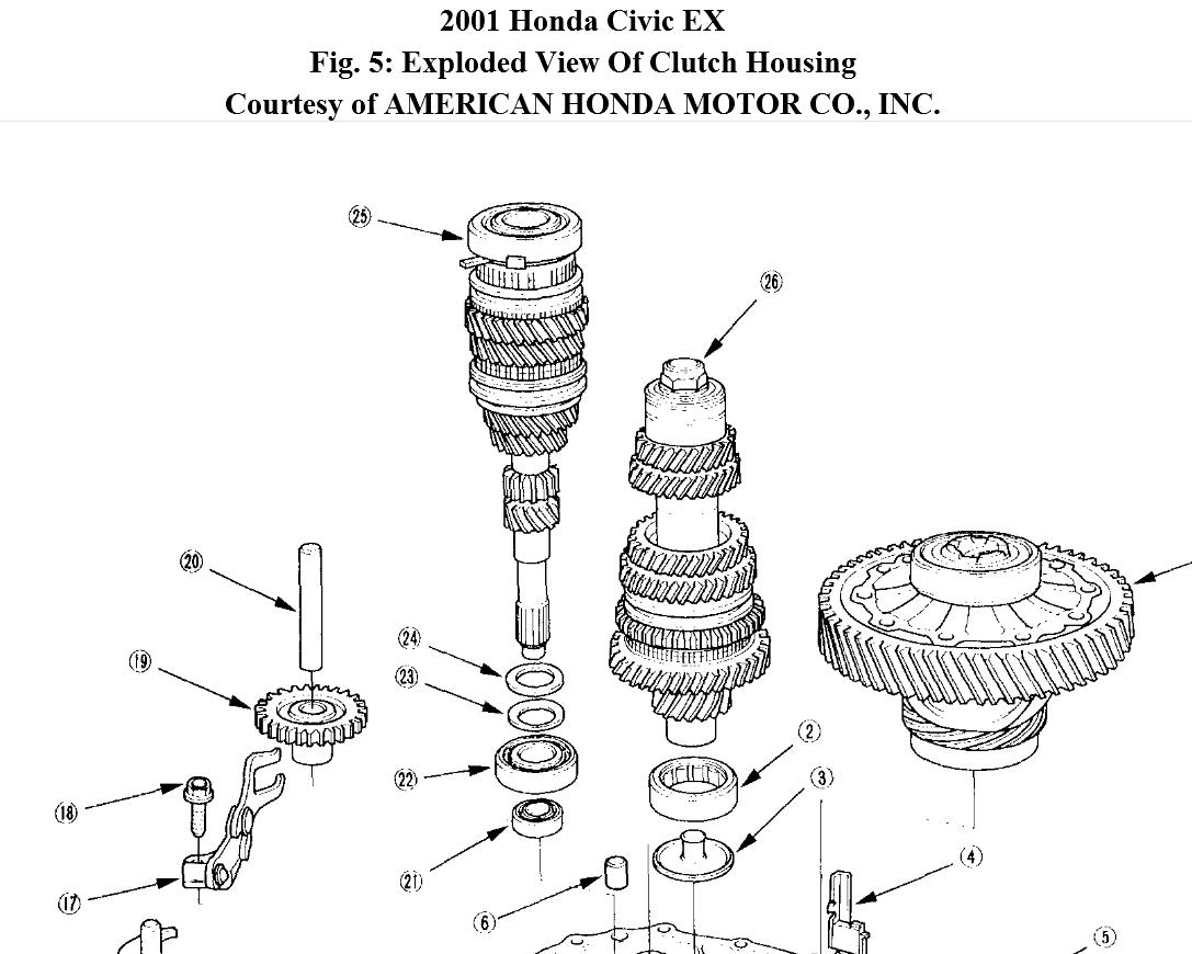 2001 honda civic exhaust diagram