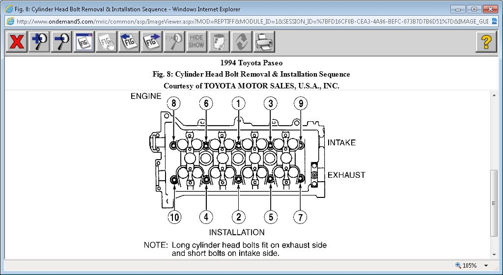What Is the Torque Pattern and Poundage for the Head Bolts in a