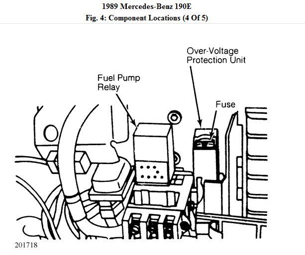 1986 mercedes benz 190e fuse box diagram
