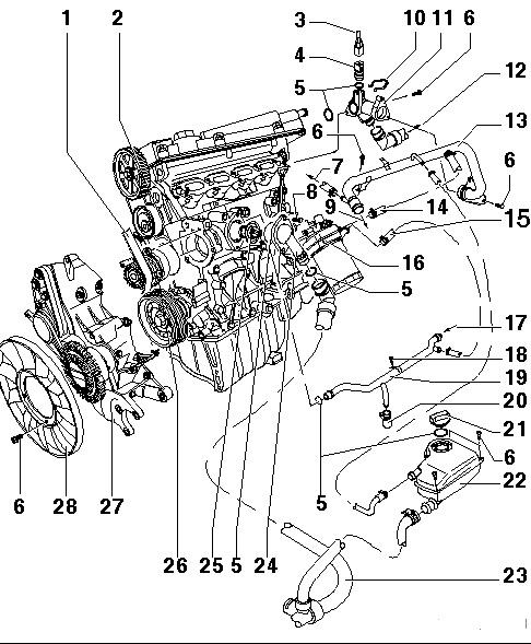 2003 volkswagen engine diagram