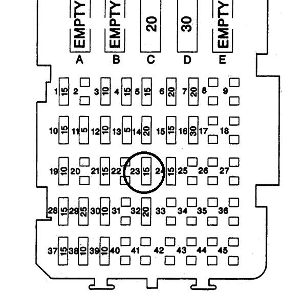 1999 chevy lumina fuse box