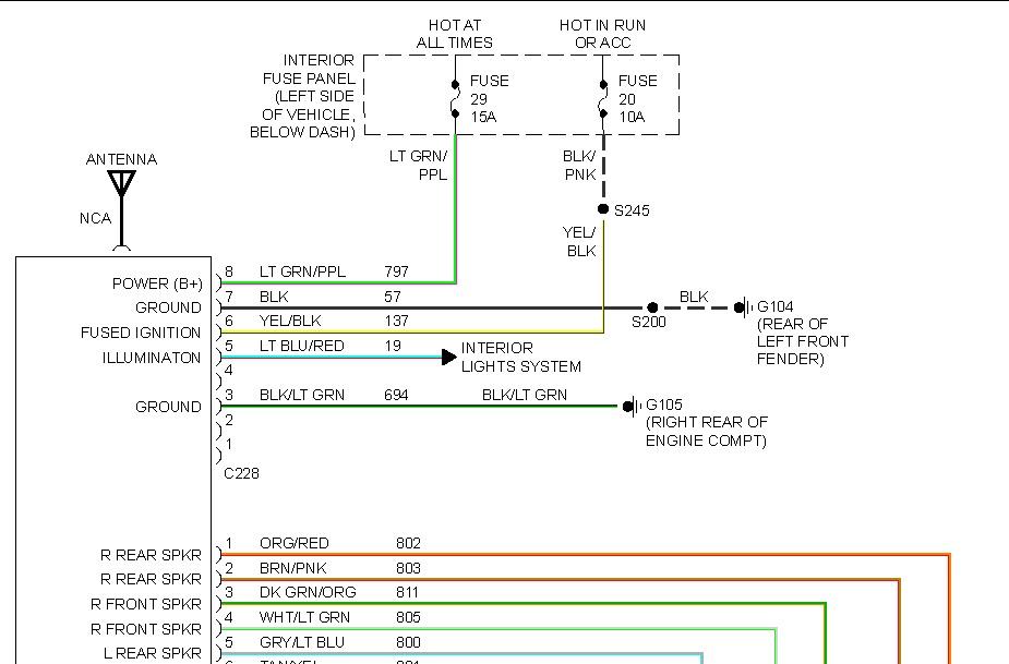 1995 ford explorer wiring diagram ford mustang radio wiring diagram