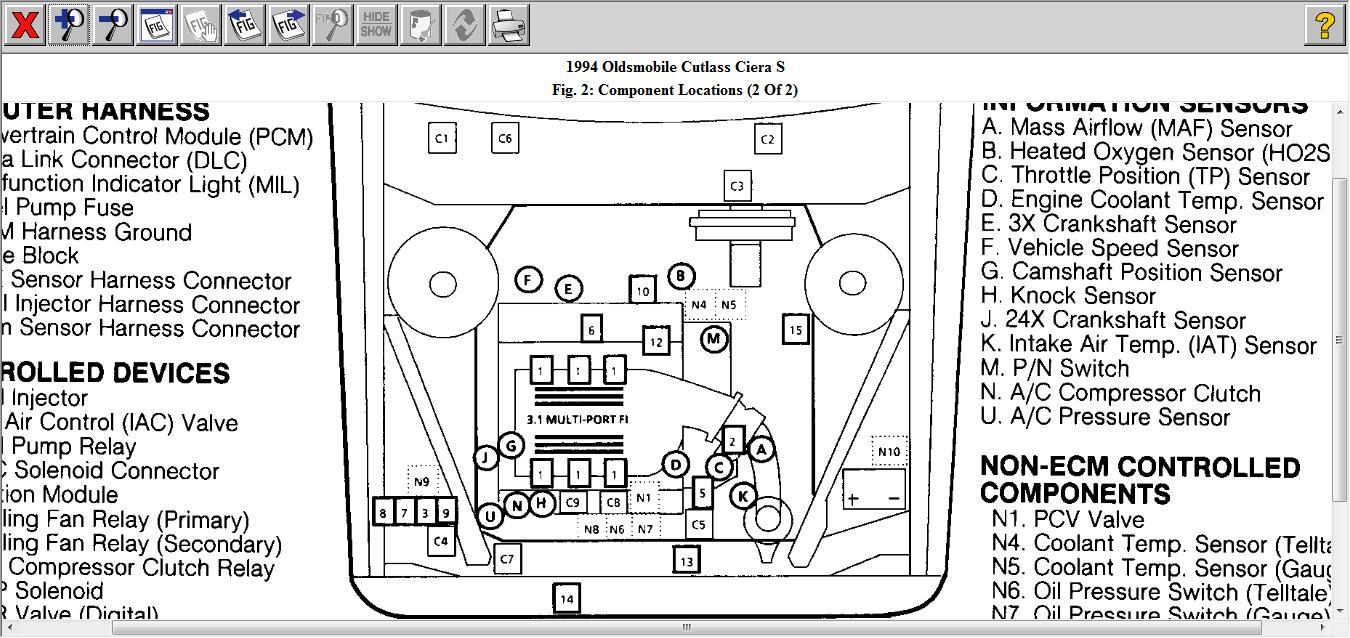 wiring diagram 94 oldsmobile cutlass supreme
