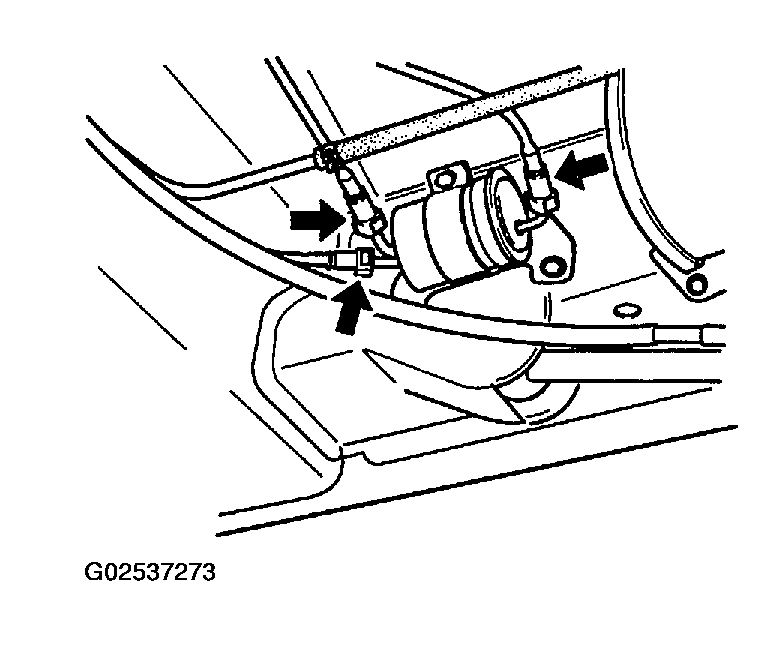 2003 chevy 2500 fuel filter location