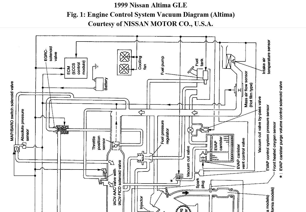 nissan 2.4 vacuum diagram