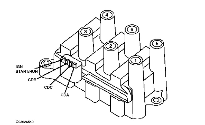 2004 mustang spark plug wire diagram
