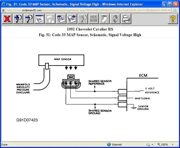 MAP Sensor Problems I Drive a 1992 Chevrolet Cavalier 31L V6 RS