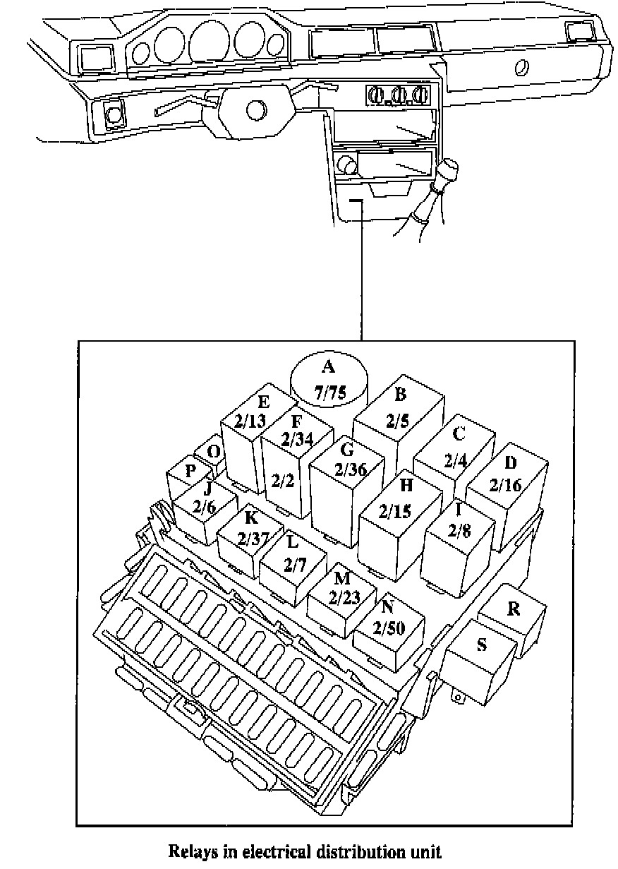 1994 volvo 940 fuse box diagram