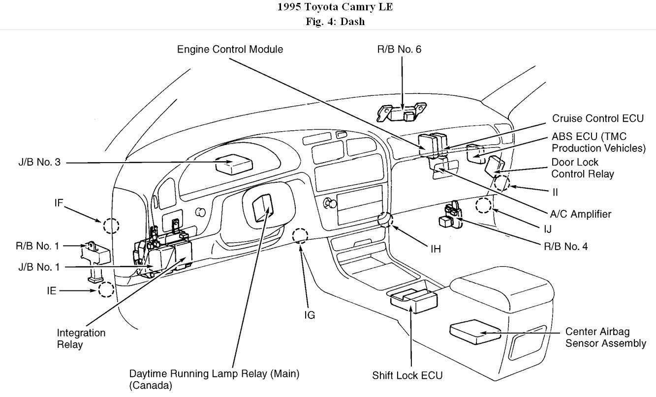 wiring diagram for 1995 toyota camry
