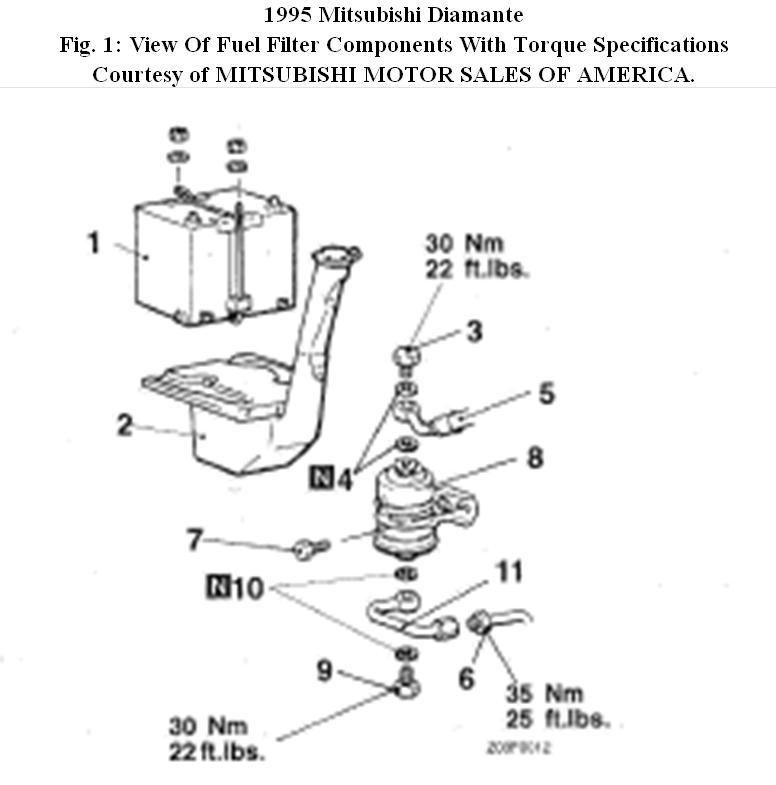 fuel filter bracket