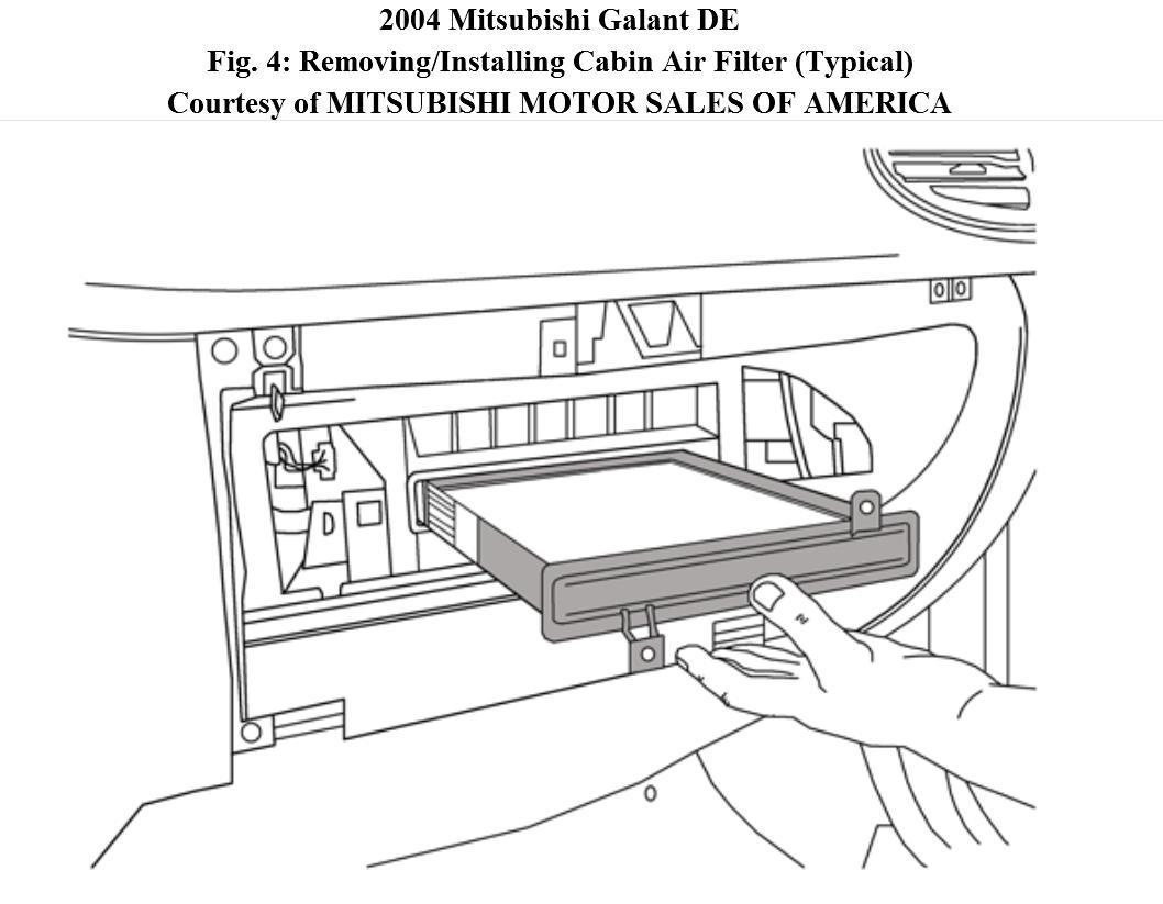 mitsubishi fuel filter change