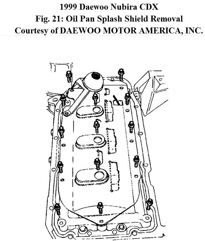 Daewoo Nubira Oil Pan Problem How Do I Change the Oil Pan Gasket