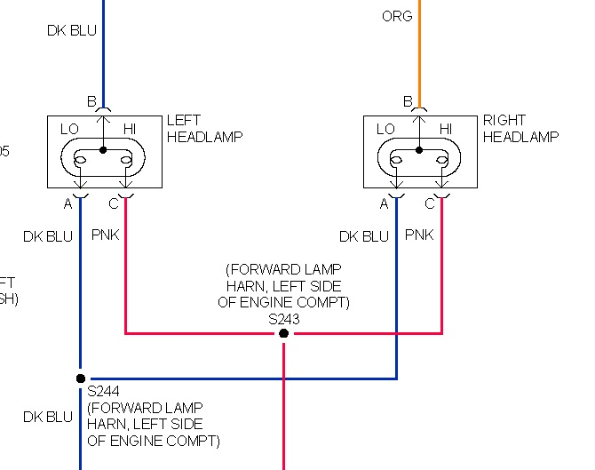 Pontiac Headlight Wiring Diagram Schematic Diagram Electronic
