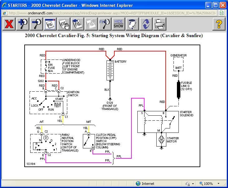 2004 Chevy Cavalier Starter Wiring Diagram Wiring Schematic Diagram
